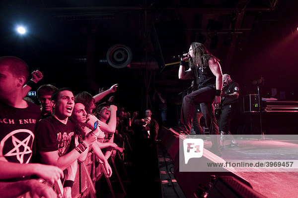 U.S. metal band Anthrax live at the Schueuer  Lucerne  Switzerland