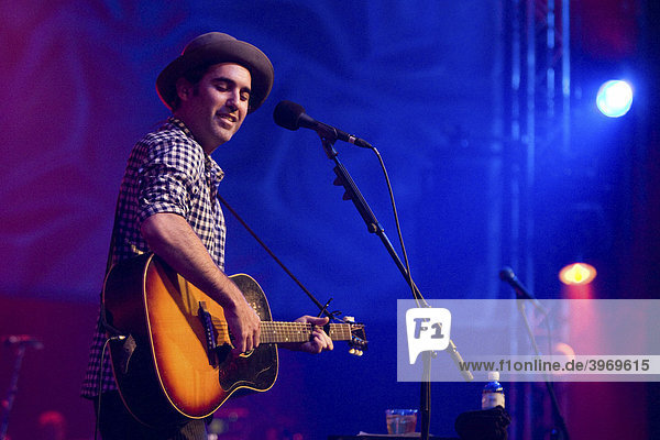 U.S. singer and musician Joshua Radin performing live at Blue Balls Festival in the Concert Hall of the KKL in Lucerne  Switzerland  Europe
