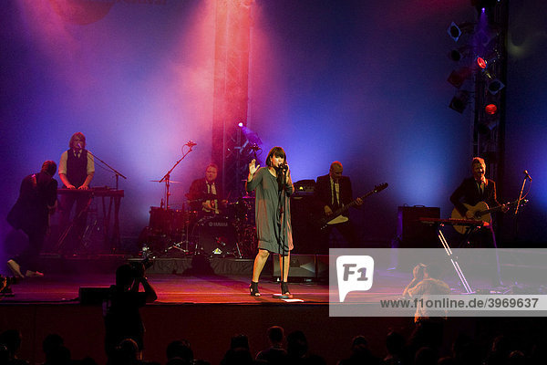 Norwegian singer Maria Mena performing live at Blue Balls Festival in the Concert Hall of the KKL in Lucerne  Switzerland  Europe