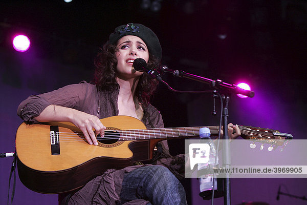 British singer and musician Katie Melua live at the open air Live at Sunset in the courtyard of the National Museum of Zurich  Switzerland