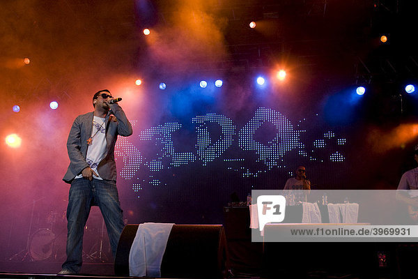 German rapper Sido live at the Heitere Open Air festival in Zofingen  Aargau  Switzerland