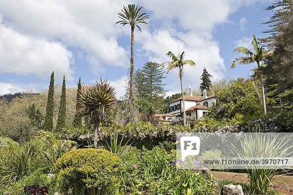 Quinta und versunkener Garten im Blandy's Garden  Funchal  Madeira  Portugal