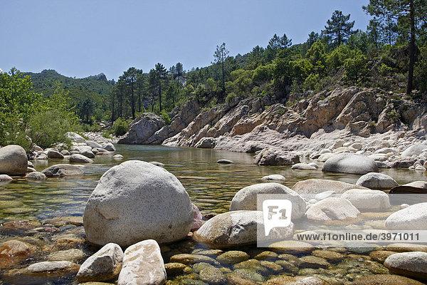 Fluss Solenzara  Bavella Berggruppe  Korsika  Frankreich  Europa