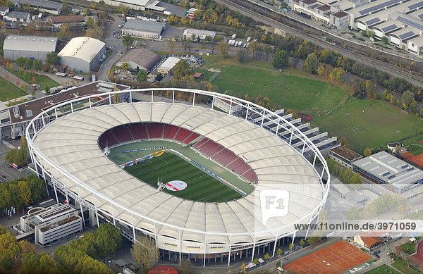 Mercedes-Benz Arena aus der Luft  vormals Gottlieb-Daimler-Stadion  Baden-Württemberg  Deutschland