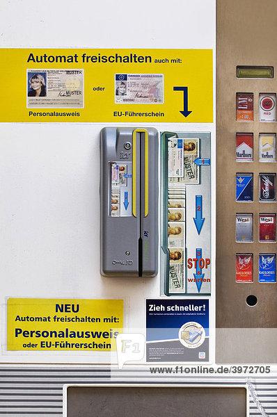 Zigarettenautomat Führerschein