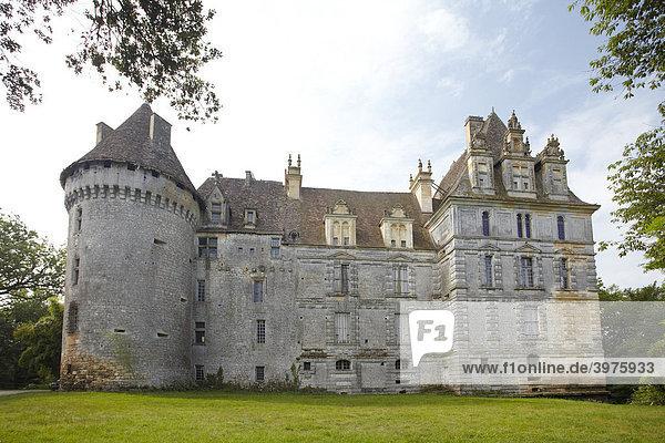 Ch'teau de Lanquais  Dordogne  Aquitanien  Südfrankreich  Frankreich  Europa