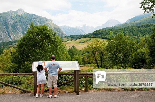 Viewpoint. Arenas de Cabrales  Asturias province  Spain.