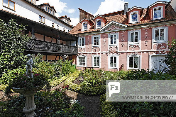 Barockes Gartenhaus  Hotel Ernestiner Hof  Meiningen  Rhön  Thüringen  Deutschland  Europa