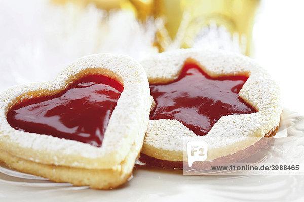 Mürbeteig-Marmeladen-Plätzchen