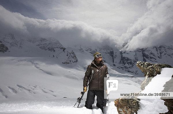 Skifahrer  St. Moritz  Graubünden  Schweiz  Europa
