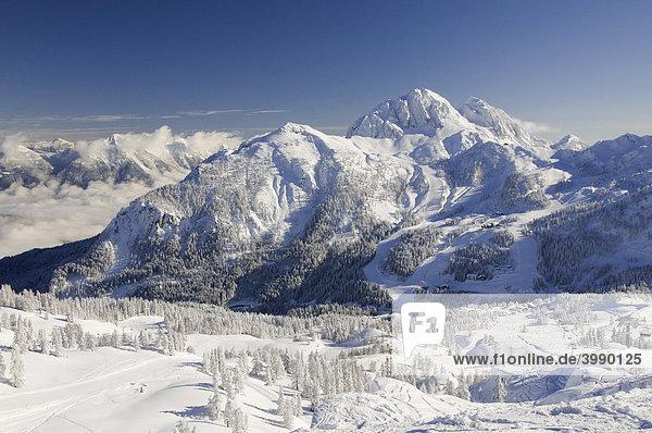 Verschneite Winterlandschaft  Nassfeld  Hermagor  Kärnten  Österreich  Europa