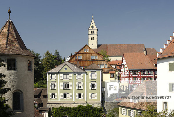 Altes Schloss  Burg  Bodensee  Meersburg  Baden-Württemberg  Deutschland  Europa