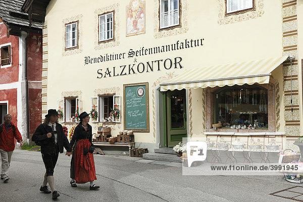Benediktiner Seifenmanufaktur und Salzkontor  Hallstatt  Salzkammergut  Oberösterreich  Österreich  Europa