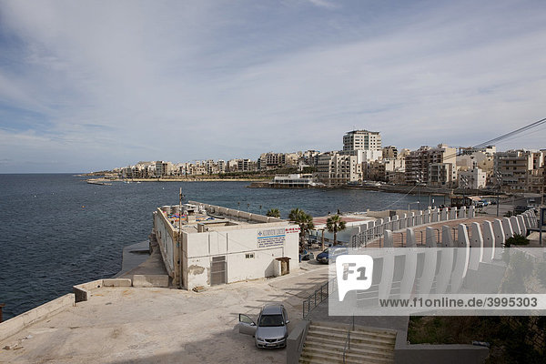 Town of Bugibba on St. Paul's Bay  Malta  Europe