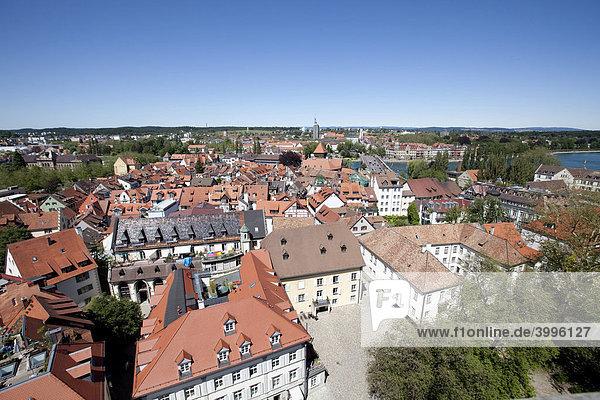 Blick auf die Altstadt von Konstanz  Bodensee  Baden-Württemberg  Deutschland  Europa