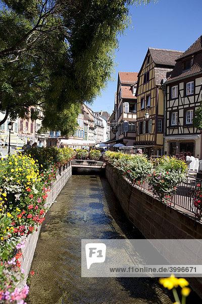 Place de l'Ancienne Douane  Altstadt von Colmar  Elsass  Frankreich  Europa