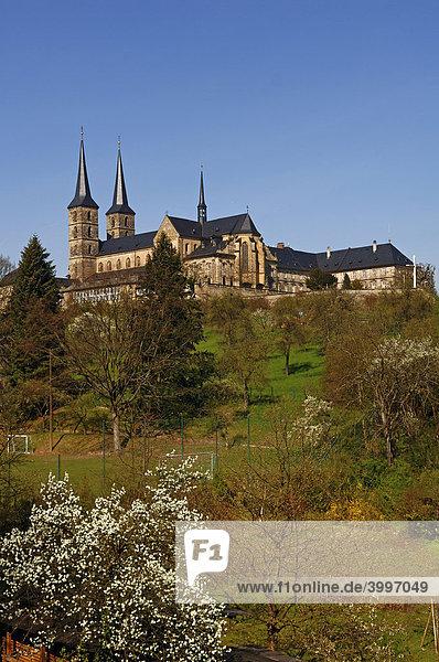 Benediktinerabteikirche St.Michael  Blick vom Rosengarten  Bamberg  Oberfranken  Bayern  Deutschland  Europa