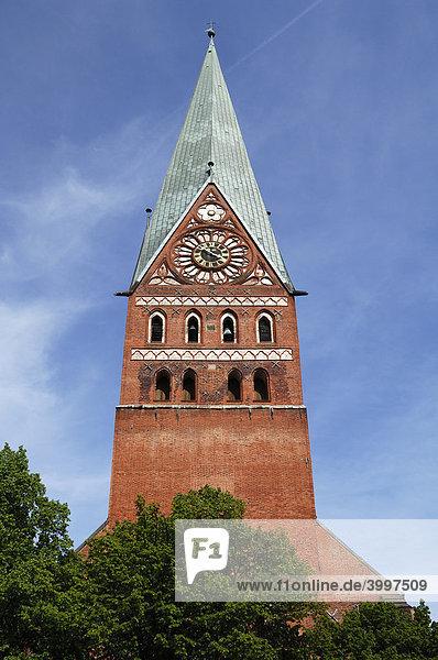 St. Johannis-Kirche  Backsteingotik  1470  Lüneburg  Niedersachsen  Deutschland  Europa