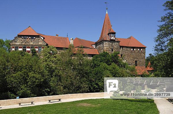 Wenzels Schloss  1353  Lauf an der Pegnitz  Mittelfranken  Bayern  Deutschland  Europa