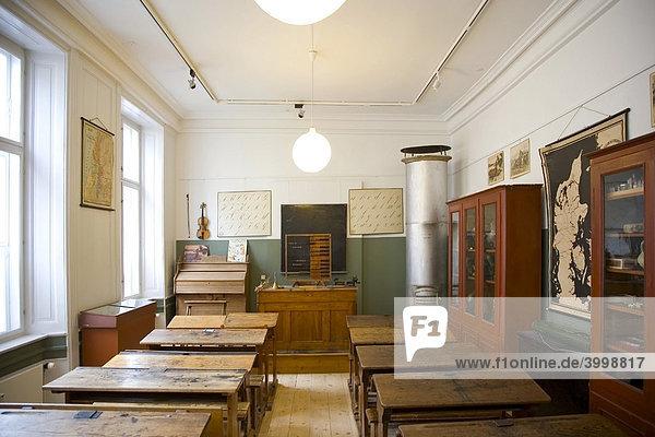 Historisches Klassenzimmer  Inneneinrichtung