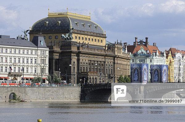 Nationaltheater  Prag  Tschechische Republik  Europa