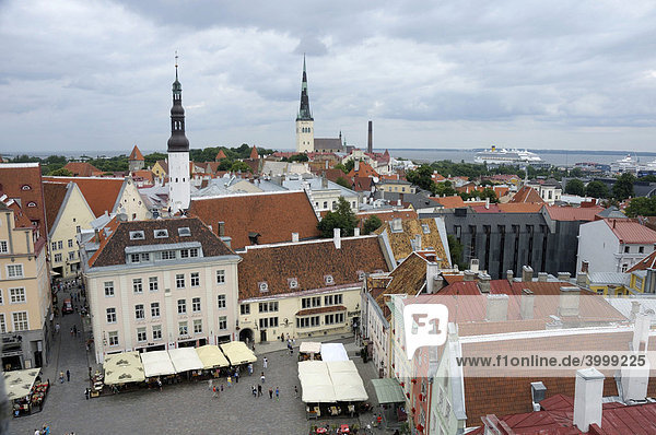 View from the Town Hall tower  Tallinn  Estonia  Europe