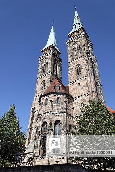 St. Sebaldus Church  Protestant  pier basilica  historic centre  Nuremberg  Middle Franconia  Franconia  Germany  Europe
