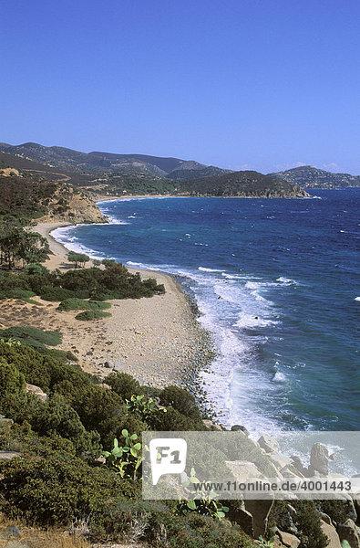 Küste am Golf von Cagliari  Sardinien  Italien  Europa
