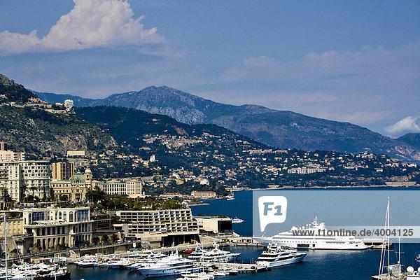 Bucht der Stadt  Monte Carlo  Fürstentum Monaco  Europa