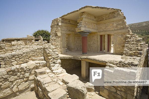 Teilbereich der Südpropyläen auf dem Gelände der minoischen Ausgrabung von Knossos  Heraklion  Insel Kreta  Griechenland
