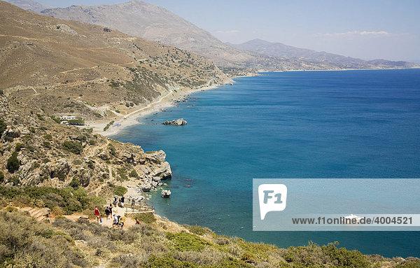 Die Bucht von Preveli  Insel Kreta  Griechenland