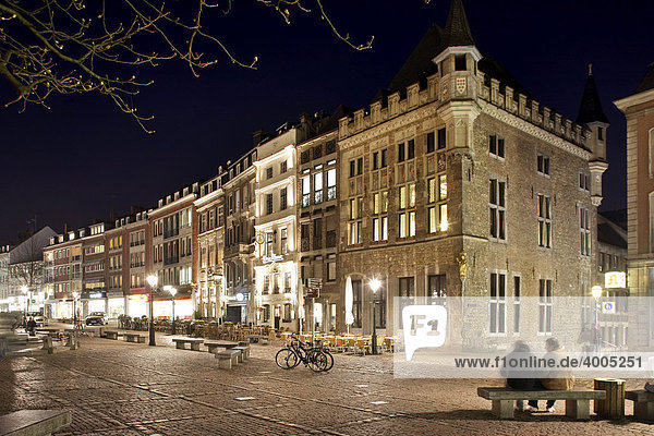Historic building in the historic centre  Aachen  North Rhine-Westphalia  Germany  Europe