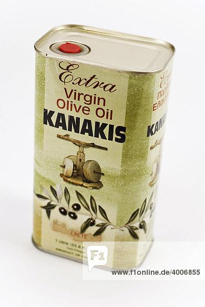 Olivenöl aus Kreta in einer Dose