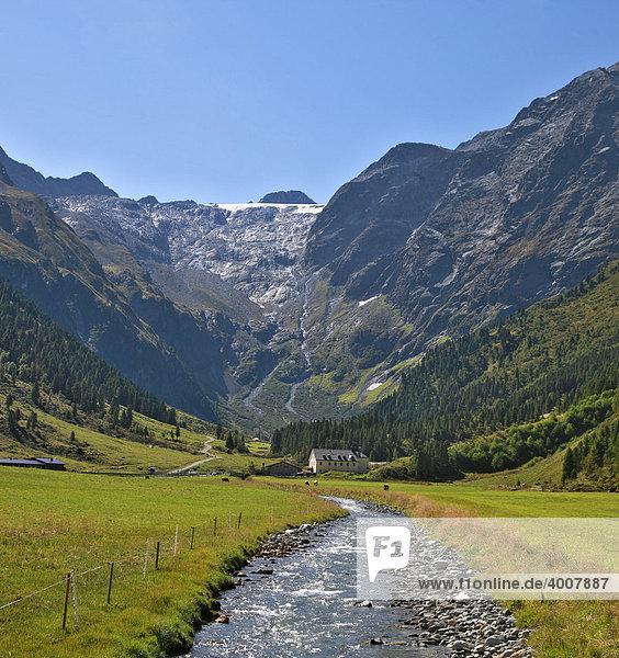 Liesenser Fernerkogel  Lüsenser  Gletscher  Lüsenser Tal  Alpengasthof Lüsens  Hospiz  Stubaier Alpen  Tirol  Österreich  Europa