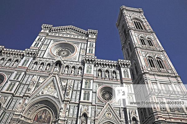 Campanile und Dom Santa Maria del Fiore  Firenze  Florenz  Toskana  Italien