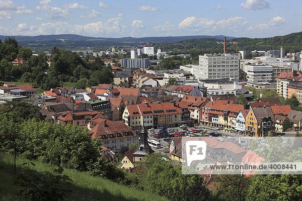 Stadtpanorma von Kulmbach  Oberfranken  Bayern  Deutschland  Europa