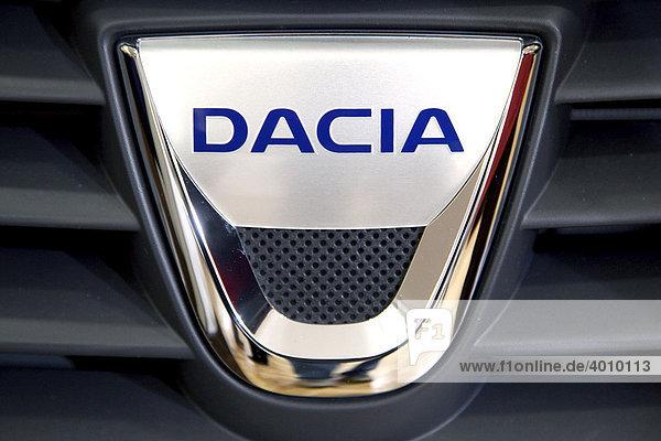Dacia emblem on a car