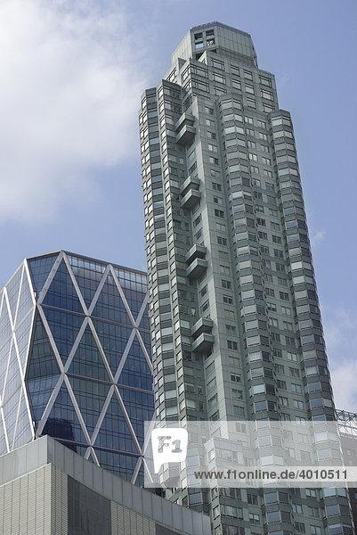 Skyscraper am Columbus Circle  New York  USA