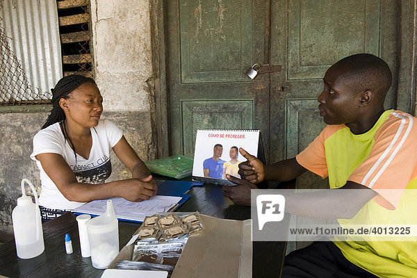 HIV AIDS Beratung  Quelimane  Mosambik  Afrika