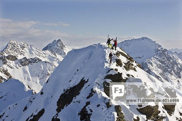 Winterklettersteig  Freerider  Bergsteiger  Arlberg  Verwallgruppe  Nordtirol  Österreich  Europa