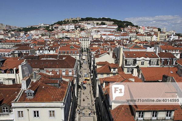 View  Castelo de Sao Jorge  Lisbon  Portugal  Europe