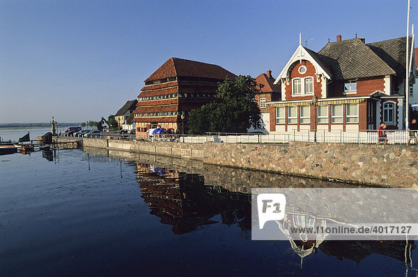 Historical granary in the harbour of Neustadt  Schleswig-Holstein  Germany  Europe