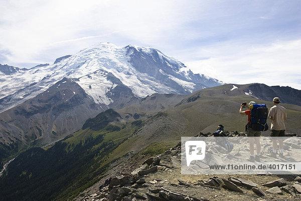 Burroughs Mountain Trail  Mount Rainier  Mount Rainier Nationalpark  Washington  USA
