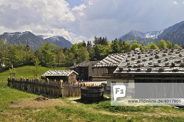 Markus-Wasmeier-Bauernhof und Wintersportmuseum  Schliersee  Bayern  Deutschland  Europa