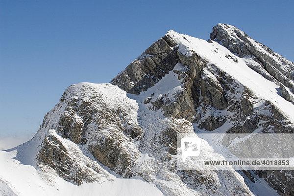 Verschneite Berge im Nationalpark Gesäuse  Steiermark  Oberösterreich  Österreich  Europa