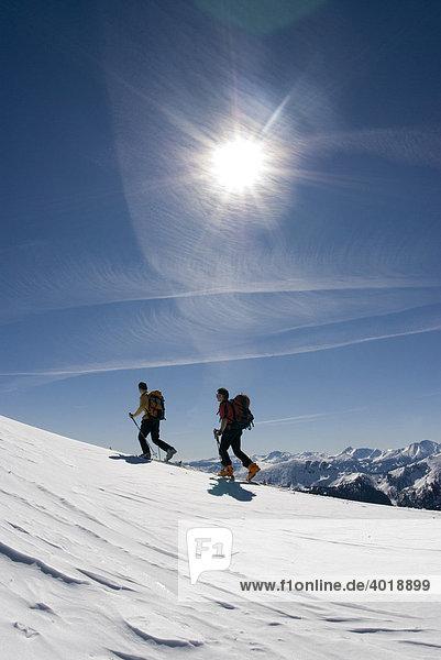 Skitour auf das Stadelfeld  Nationalpark Gesäuse  Steiermark  Oberösterreich  Österreich  Europa