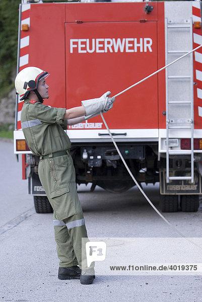 Feuerwehrmann  Reichraming  Oberösterreich  Österreich  Europa