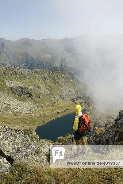 Blick auf den Mittleren Kaltenbachsee in den Schladminger Tauern  St. Nikolei  Steiermark  Österreich  Europa