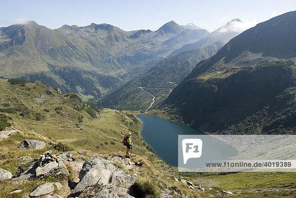 Blick auf den unteren Kaltenbachsee  Schladminger Tauern  St. Nikolei  Steiermark  Österreich  Europa
