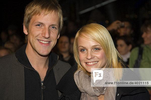 Der deutsche Moderator Jan Hahn mit seiner Freundin Mirjam Weichselbraun